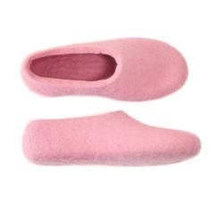 Womens Wool House Shoes Romantic Pink