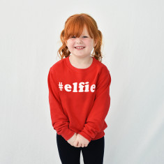 Elfie Children's Christmas Sweatshirt Jumper