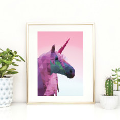 Geometric Unicorn art print