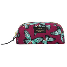 Wouf small beauty bag in butterfly print