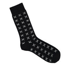 Lafitte chocolate wool cross socks