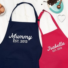 Personalised Mummy And Child Apron Set