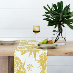 Ficifolia Ochre Table Runner