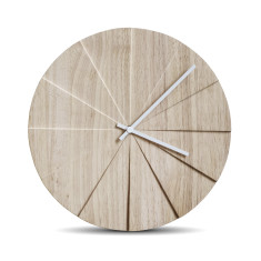 Leff Amsterdam scope natural wall clock