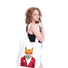 Fox canvas tote
