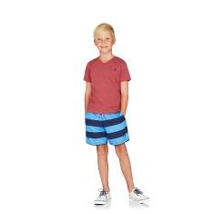 Boys Board shorts in Navy & Blue Stripes