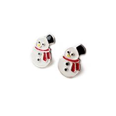 a small world Stud Earrings - Snowman
