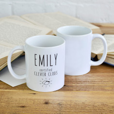 Personalised Clever Clogs Mug