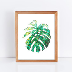 Monstera leaf limited edition giclee print