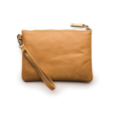 Cassie Classic Collection clutch in caramel