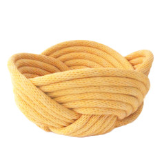 Weave bowl in saffron yellow