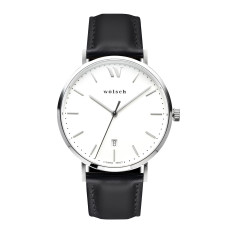 Versa 40 Watch in Steel with Black Band