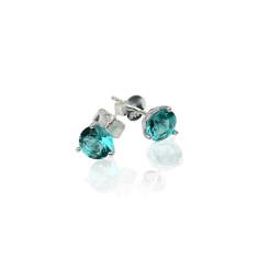 December birthstone sterling silver stud earrings