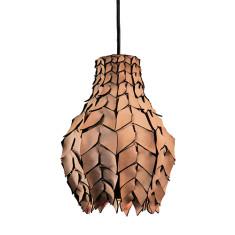 Pod luxe leather pendant light