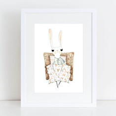 All Rugged Up Bunny - Limited Edition Fine Art Print