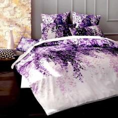 Josephine purple quilt cover set