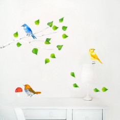 Tree Branch and Birds Wall Stickers