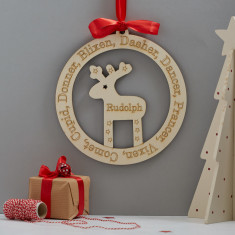Rudolf the Reindeer Christmas door or wall wreath