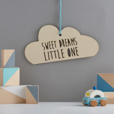 Sweet dreams little one cloud hanging decoration