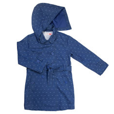 Girls' denim trench coat