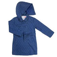 Girls' denim trench coat