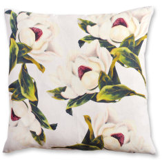 Magnolia linen cushion cover