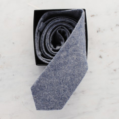 Charles skinny tie in oxford grey