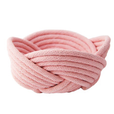 Weave bowl in blush pink