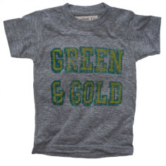 Kids green and gold shirt