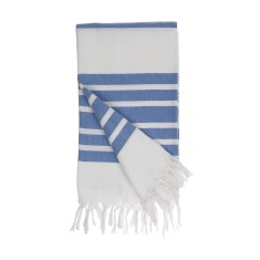 Classic blue Turkish towel