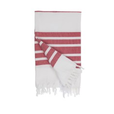 Classic red Turkish towel