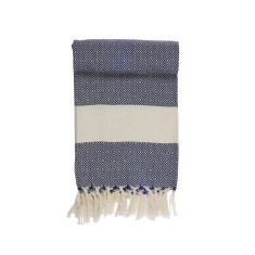 Essence navy Turkish towel