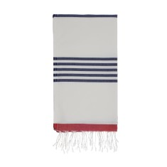 Marine red/navy Turkish towel