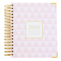 Daily planner for 2016 (pink triangles)