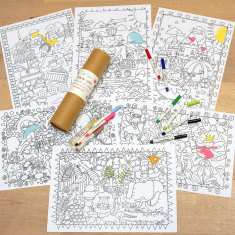 Children's wedding activity colouring set