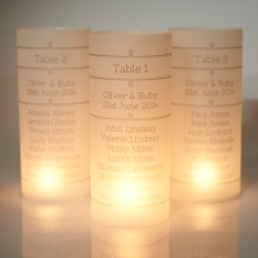 Personalised wedding table lantern