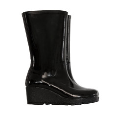Wedge rubber wellies