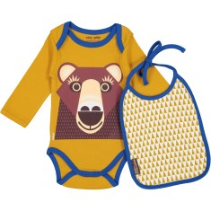 Brown Bear onesie and bib set