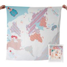 Weegoamigo baby world map muslin