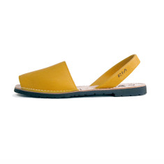 Morell leather sandals in mustard yellow