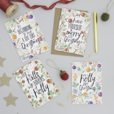 Festive Christmas Carol Card Pack