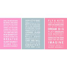 Welcome to the World little girl prints (set of 3)