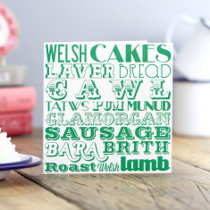 Welsh dinner greeting card (pack of 6)