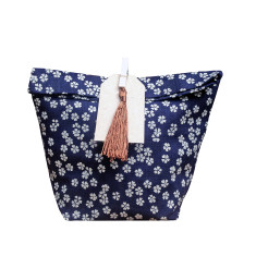 Indigo Copper flowers gift bag