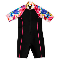 Girls' floral wetsuit