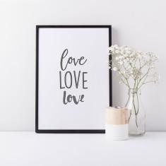 Love drawing print