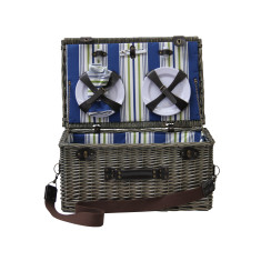 Aegean Luxury Wicker Picnic Basket for 6 people
