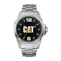 CAT Icon series in Stainless steel with black CAT logo face