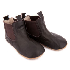 Pre-walker leather riding boots in chocolate brown