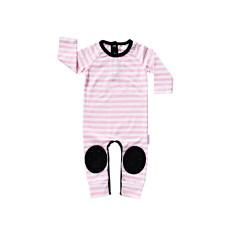 Pink Stripe Crawlsuit